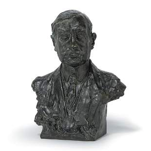 ALFREDO PINA (1883-1966) & PANINI (FONDEUR) BUSTE DE