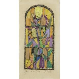JACQUES VILLON (1875-1963) PAIX SUR LA TERRE Crayon