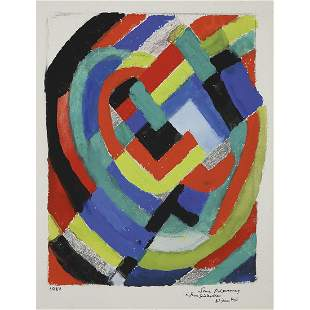SONIA DELAUNAY (1885-1979) RYTHME COULEUR, 1975 Gouache