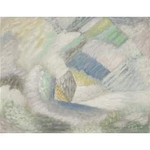 SERGE CHARCHOUNE (1888-1975) COMPOSITION, 1945 Huile