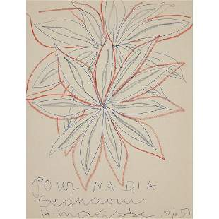 ƒ HENRI MATISSE (1869-1954) DEUX GRANDES FLEURS, 1950
