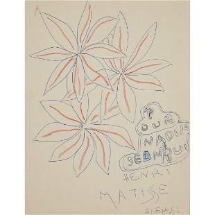 ƒ HENRI MATISSE (1869-1954) TROIS FLEURS, 1950 Encre et
