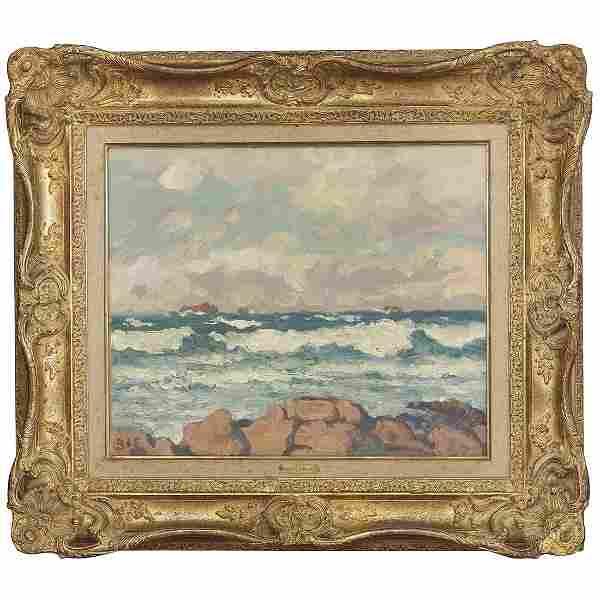 GEORGES D'ESPAGNAT (1870-1950) LA MER APRÈS L'ORAGE,