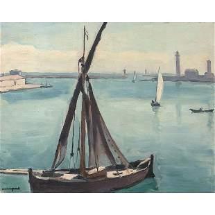 ALBERT MARQUET (1875-1947) BÂTEAU-BŒUF, SÈTE Huile sur