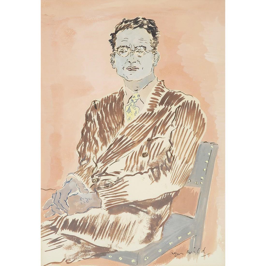 ROGER WILD (1894-1987) PORTRAIT DE MONSIEUR V. EN