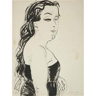 RAOUL DUFY (1877-1953) FEMME EN BUSTE DE PROFIL Encre