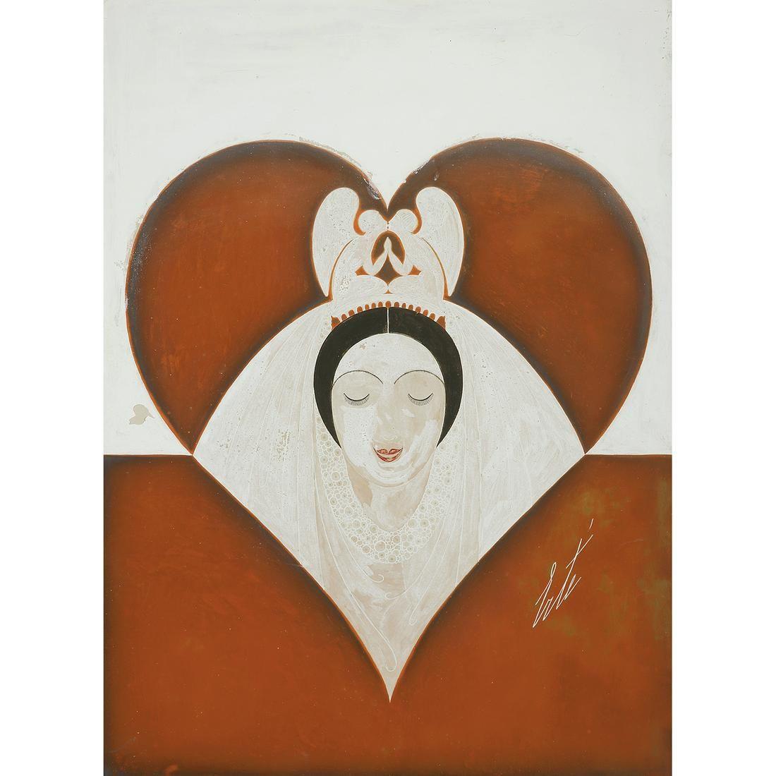 ROMAIN DE TIRTOFF, DIT ERTÉ (1892-1990) LA DAME DE CŒUR
