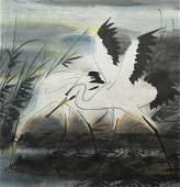 LIN FENGMIAN (1900-1991)  Peinture à l'encre et