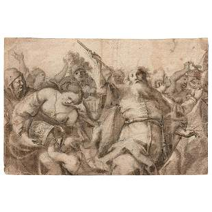 GIOACCHINO ASSERETO (1600-1649) Moïse faisant
