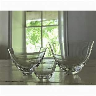 Crystal Bowls by Deborah Ehrlich - Set of Three