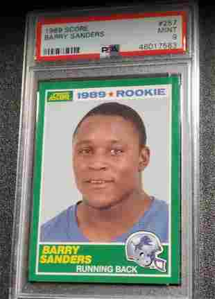 1989 SCORE #257 BARRY SANDERS RC-PSA 9 MINT