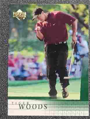 2001 Upper Deck Tiger Woods Rookie Card # 1 Near Mint -