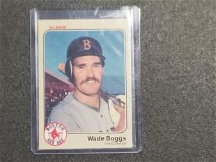 1983 Fleer WADE BOGGS #179 Rookie RC BOSTON RED SOX HOF