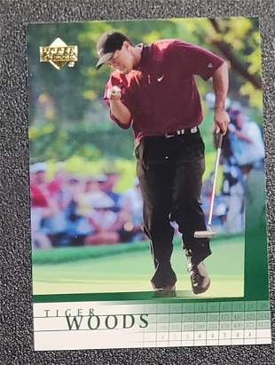 2001 Upper Deck Tiger Woods Rookie Card # 1 Near Mint -