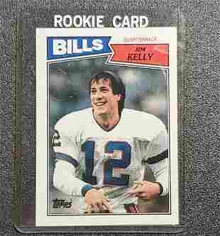 JIM KELLY Bills 1987 Topps ROOKIE CARD Football BUFFALO