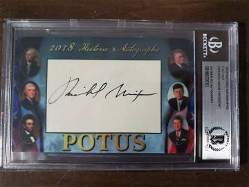 Richard Nixon 2018 Historical Autographs P.O.T.U.S BGS