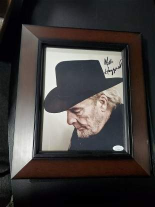 Merle Haggard Signed Autographed 8x10 Photo Legend JSA