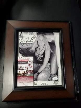Miranda Lambert Signed Framed  Photo JSA
