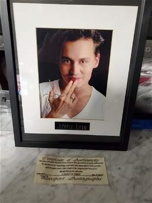Autographed Johnny Depp 8x10 photo framed COA