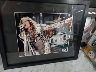 Steven Tyler Signed Framed Photo PSA/DNA Aerosmith
