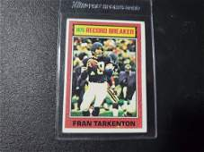 1976 Topps Football 7 Record Breaker Fran Tarkenton