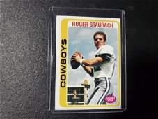 1978 TOPPS FOOTBALL CARD  ROGER STAUBACH DALLAS COWBOY