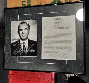 Robert Shapiro Autographed Framed photo OJ Jury results