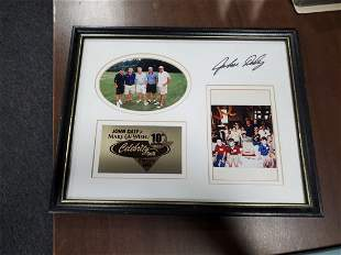 John Daly Charity Golf autographed photo framed