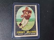 1958 Topps Football Jim Brown ROOKIE RC #62