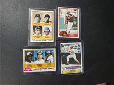 4 MLB Star cards from the 80's Pete Rose, Ozzie Smith