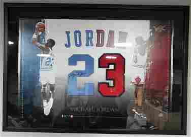 Michael Jordan Autographed Jersey Numbers UDA RARE