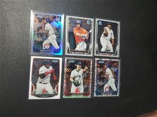 6 Bowman Chrome cards Altuve, Sabthia, Ortiz, Beltre,