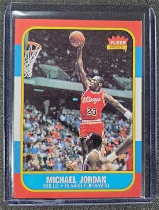 1986-87 Fleer Basketball Michael Jordan Rookie Card RP