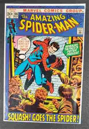 Amazing Spider-Man 106 HIGH GRADE bronze age Marvel 9.0