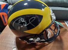Tom Brady Autographed Michigan Full Size Helmet TRISTAR