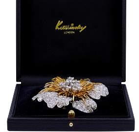 KUTCHINSKY, IMPORTANT 18 ct. BI-COLOR GOLD DIAMOND