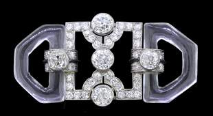 CARTIER, IMPORTANT ART-DECO ROCK CRYSTAL AND DIAMOND
