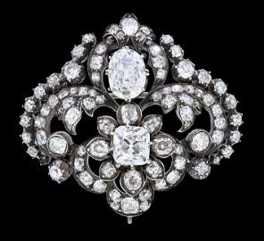 IMPORTANT ANTIQUE DIAMOND BROOCH
