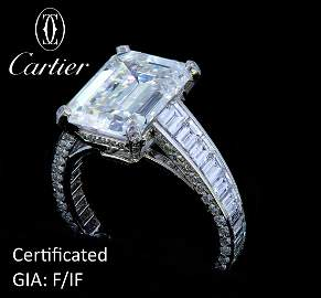 CARTIER, HIGHLY IMPORTANT DIAMOND RING