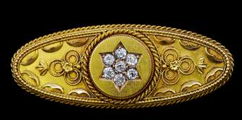 ANTIQUE VICTORIAN DIAMOND BROOCH