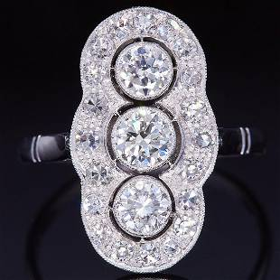 ART-DECO DIAMOND DRESS RING