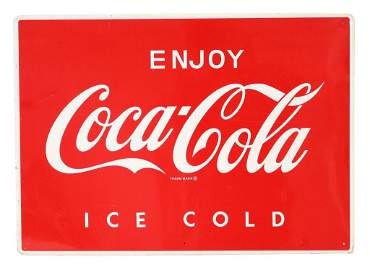 Enjoy Coca-Cola Ice Cold Tin Sign