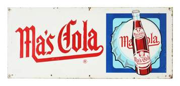Embossed Ma's Cola Tin Sign
