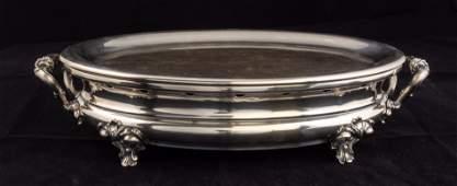 Christofle Silverplate Warming Tray, Ca. 1850