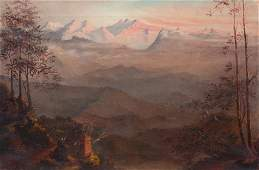 19th Century Landscape, View of The Himalayas