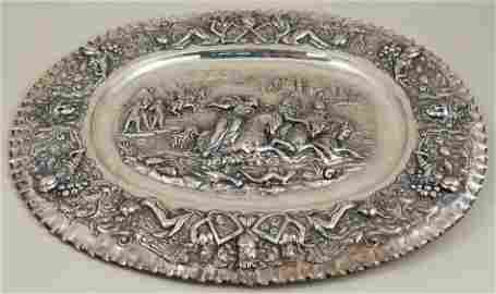 Large & Early 19th Century Augsburg Silver Platter