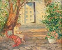 Louise M. Kamp, Reading in the Garden