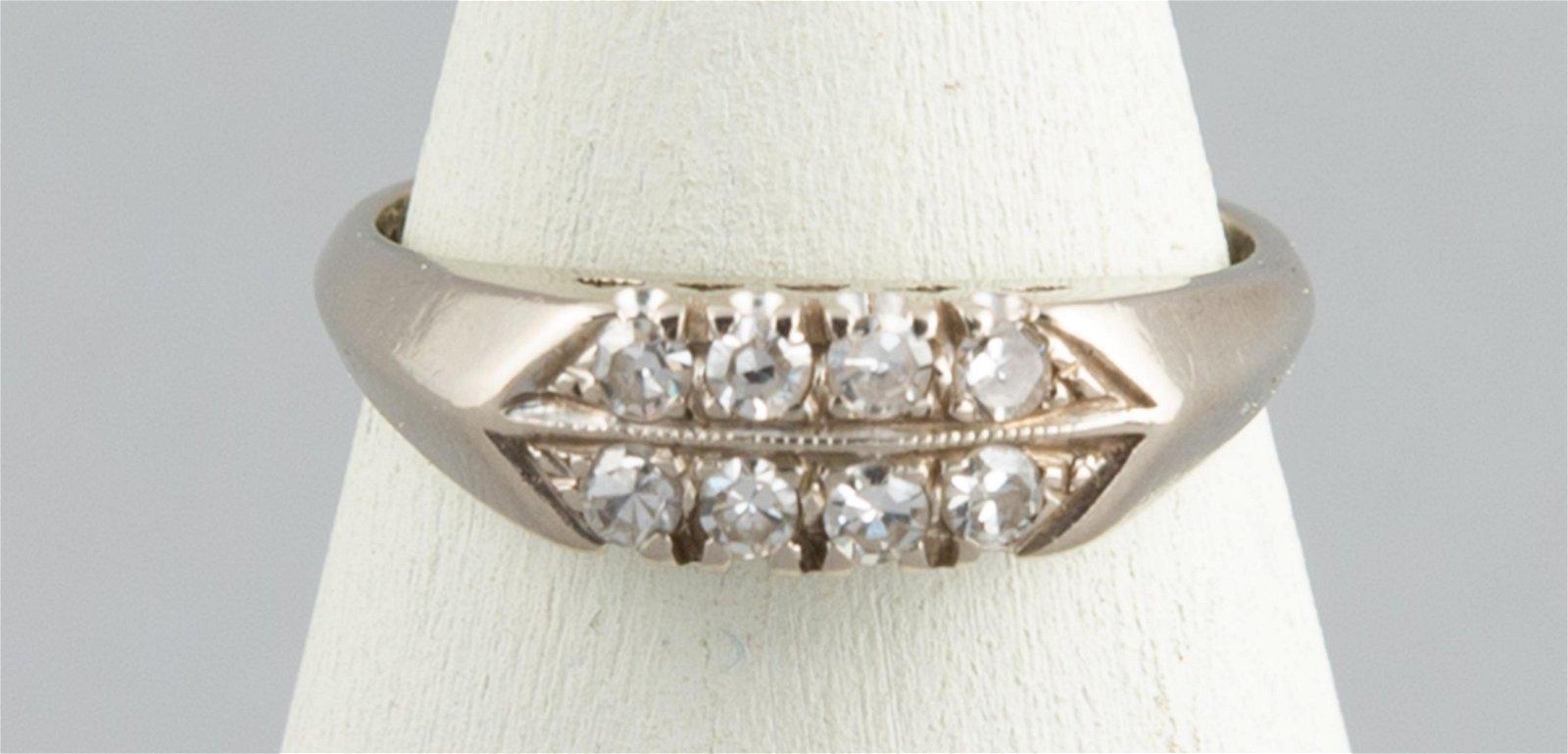 14K Gold & Diamond Inset Ring