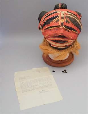 Antique Makishi Dancing Mask