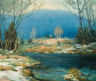 """Walter Koeniger, """"October Snow in the Catskills"""""""